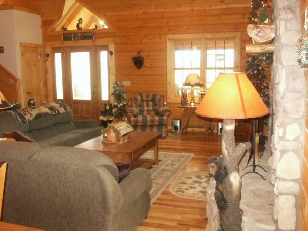 cabin w pine trees lodge decor wood