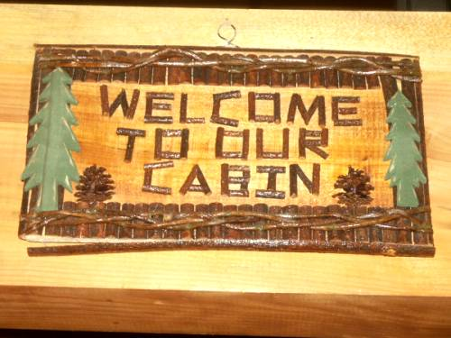 Brown County Log Cabin welcome